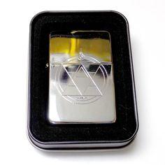 Transmutation Circle Engraved Chrome Cigarette Lighter / Case Gift LEN-0141