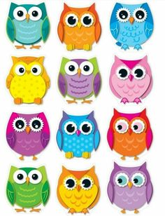 Carson Dellosa Education Colorful Owls Cut-outs - Whooo Doesn't Love Owls? These 36 Brightly Colored Owl Are Printed On Sturdy Card Stock And Come In 12 Assorted Designs Colors. Owl Theme Classroom, Classroom Walls, Preschool Classroom, Classroom Teacher, Classroom Ideas, Classroom Displays, Owl Crafts, Class Decoration, Owl Art