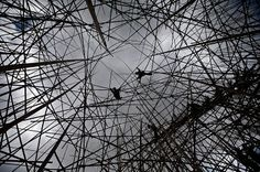 The installation, by artists Doug and Mike Starn, will be made of 10,000 bamboo stalks and cover an area of more than 700 sq m upon completion Ronen Zvulun