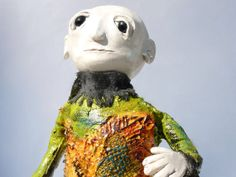 art doll mixed media Autumn Multi Layered by MagpiesandMimsy, $54.65