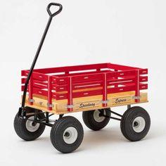 Gray Kid/'s Pull Wagon Amish-Made Berlin Flyer F410 Sport Express Wagon