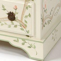 detail of hummingbird dresser