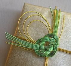 Gift wrapping with mizuhiki cord -- instructions