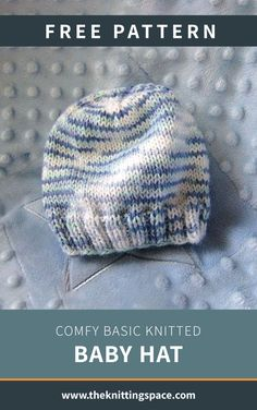 Comfy Basic Knitted Baby Hat [FREE Knitting Pattern]Thanks grabrick for this post.Keep your little one warm and cozy all winter by making this simply adorable knitted cable baby hat. This easy knitting pattern is ideal for beginner knitters o# baby Baby Hat Knitting Patterns Free, Beanie Pattern Free, Baby Hat Patterns, Baby Hats Knitting, Easy Knitting, Baby Bonnet Pattern Free, Knitting Ideas, Newborn Knit Hat, Knitted Baby Beanies