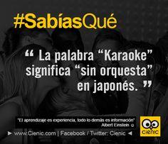 """¿Sabías Que? La palabra """"Karaoke"""" significa """"sin orquesta"""" en japonés. ★ #DatosCuriosos #SabiasQue #Curiosidades"""