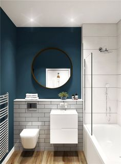 Brilliant Utilizing Small Space In Bathroom with Beautiful Decorating Top Pictures) - Paradise Home Small Bathroom Interior, Small Bathroom Layout, New Bathroom Ideas, Big Bathrooms, Bathroom Inspiration, Small Full Bathroom, Loft Bathroom, Bathroom Colors, Small Toilet Room