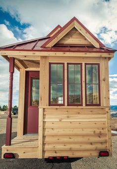 All season tiny house on wheels The Wildflower Bunkhouse in