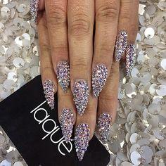 Diamanté nails by Laque nail bar.