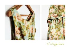 Vintage dress print