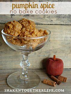 Pumpkin spice no bake cookies.