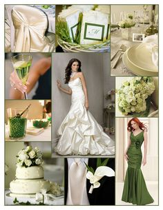 Green and ivory wedding inspiration