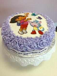 Dora Birthday Cake with Edible Image #DvasCakes