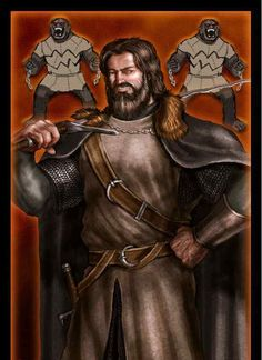 Jon Umber is the Lord of Last Hearth and the head of House Umber, a loyal vassal family to the Starks of Winterfell.[1] He is better known as Greatjon Umber or the Greatjon to distinguish him from his son and heir, the Smalljon.