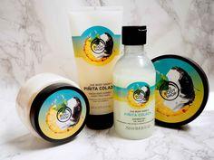 OSTOLAKOSSA: The Body Shopin uuden Piñita Colada -vartalotuotelinjan tuotteet tuoksuvat valloittavalta! The Body Shop, Sorbet, Shampoo, Personal Care, Shower, Bottle, Rain Shower Heads, Personal Hygiene, Flask