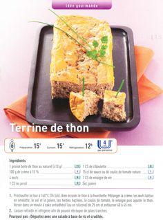 Terrine de thon  http://www.coesiae.org/cuisine-terrine-de-thon/