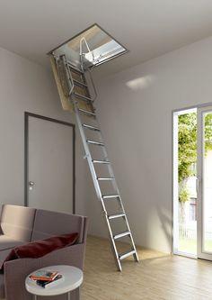 Escalera plegable y escamoteable para techo Modelo Tramo 270 - Escaleras Enesca.es