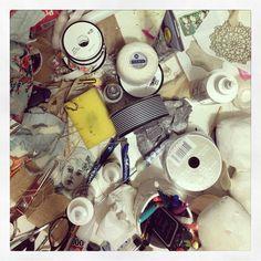If a messy desk is sign of a creative mind then I must be veeeeery creative . #Danita #danitaart #desk #creativelife #artiststudio