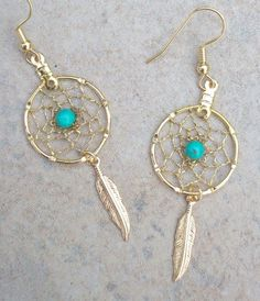 dream catcher earrings.... suddenly obsessed with dream catchers