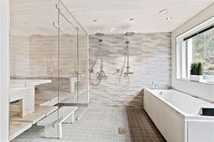 Sisustus  - Kylpyhuone - Moderni Home Spa, Alcove, Bathtub, Relax, Saunas, Bathrooms, Home Decor, Standing Bath, Bathtubs