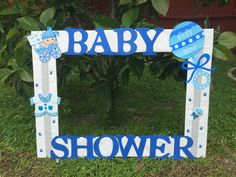 Baby shower baby boy photo frame cuadro tematico made by Thelma Villa