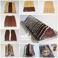 Bisküvili Muzlu Piramit Pasta 2