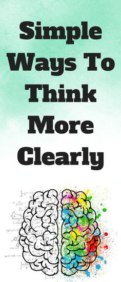 Do you want to know how to think more clearly and stop brain fog? I've put together this practical guide that'll show you how I keep my mind clear. Mental Health Facts, Mental Health Journal, Kids Mental Health, Negative Self Talk, Negative Thoughts, Entrepreneur, Healthy Living Quotes, Brain Fog, Secret To Success