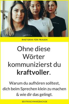Wörter weglassen – kraftvoller kommunizieren Especially women make themselves small by speaking through their words: however, you can stop it at any time through awareness. Mental Training, Pop Culture References, Logo Design Trends, Friends Tv Show, Psychology Facts, Public Speaking, What Is Like, Good To Know, Coaching