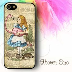Alice In Wonderland Newspaper available For Iphone 4/4s/5/5s/5c case , Samsung Galaxy S3/S4/S5/S3 mini/S4 Mini/Note 2/Note 3 case , HTC One X and HTC One M7 case