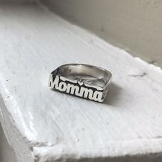 Momma Stackable Name Ring