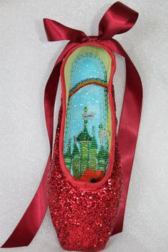 Check out this item in my Etsy shop https://www.etsy.com/listing/505084771/decorated-pointe-shoe-the-wizard-of-oz