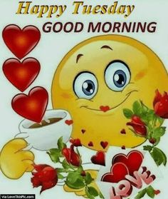 Dank, love, and good morning: happy tuesday good morning via love thispic. Good Morning Smiley, Good Morning Greetings, Good Morning Good Night, Good Morning Wishes, Good Morning Quotes, Morning Pictures, Good Morning Images, Morning Pics, Calin Gif