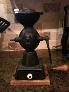 Enterprise Coffee Grinder 1873 | Antique 1873 Enterprise No 1 Cast Iron Coffee Grinder Mill - rare!!