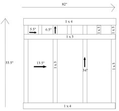 board and batten diagram. This is what I want my headboard to look like!