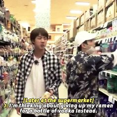 Don't do it Jin you need to be sober for your kids