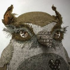 Seaton- these stuffed creatures are not toys but beautiful works of art composed by Ann Wood.