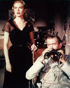 Kelly epitomised the seductively cool society girl in Rear Window (1954), in which she starred with James Stewart. The black silk organza dress that she wore in one of the film's key scenes was designed by Edith Head. Photo By Everett/Rex features