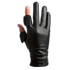 Leather Gloves Women's Black, $50, now featured on Fab.