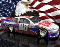 dale earnhardt jr | Dale Earnhardt Jr NASCAR Unites American flag and Eagle Patriotic ...