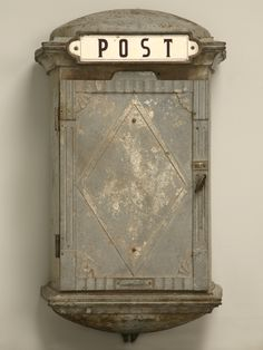 Vintage French Iron Postal or Phone Box - Old Plank Antiques Old Mailbox, Vintage Mailbox, Antique Mailbox, Mailbox Ideas, Vintage Love, French Vintage, Retro Vintage, Post Bus, Vintage Antiques