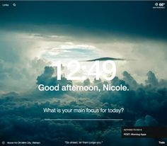 "Momentum (free, Chrome) replaces your browser's ""new tab"" page with a gorgeous photo and an inspirational quote."