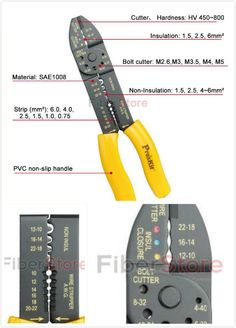 This 8PK-313B wire stripper/crimper is of high quality and easy for operation. It is a small hand tool used by telecommunication and network technicians. It can help you work well in house working and project working. Only US$  10.00