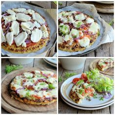 My most popular RECENT recipe with 756 pins! Low-Calorie Cauliflower Crust Pizza: Gluten Free, Paleo and 5:2 Diet Pizza Recipe: 240 calories per portion, which is half a pizza!