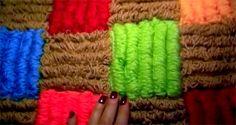 Видео мастер-класс - как вязать крючком объемный коврик из вытянутых петель