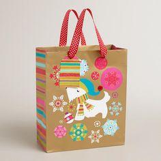 One of my favorite discoveries at WorldMarket.com: Medium Scottie Snowflakes Gift Bag