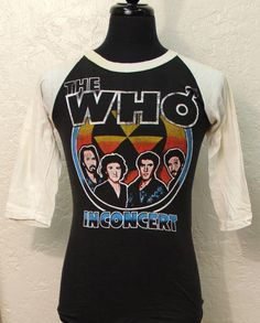 vintage THE WHO early 80s tour T SHIRT small Rock by socalvintage, $75.00