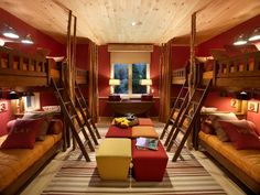 Love this bunk room.