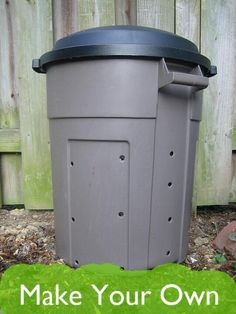 I think we're ready to upgrade our garage soil bag compost containers...    DIY Compost Bin