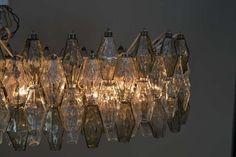 Carlo Scarpa polyhedral Venini chandelier at 1stdibs