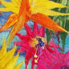 Felted Flowers by Ruth Beer