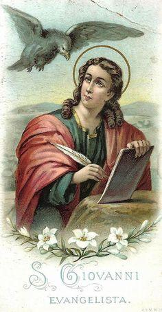 Vintage Holy Cards, Artwork For Home, Saint Jean, John The Baptist, Peace On Earth, Blessed Mother, Roman Catholic, Religious Art, Virgin Mary
